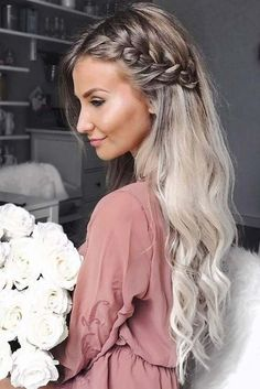 Awesome 45 Charming Romantic Hairstyles Ideas For Valentines Day. More at luvlyf… Awesome 45 Charming Romantic Hairstyles Ideas For Valentines Romantic Hairstyles, Easy Hairstyles For Long Hair, Hairstyle Ideas, Wavy Wedding Hairstyles, Hair Down Hairstyles, Braided Wedding Hairstyles, Simple Braided Hairstyles, Black Hairstyles, Long Hairstyles