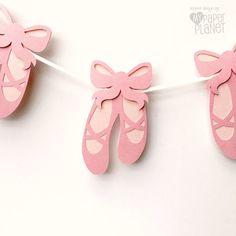 Bandera fiesta de zapatos de ballet. Niña fiesta por MyPaperPlanet