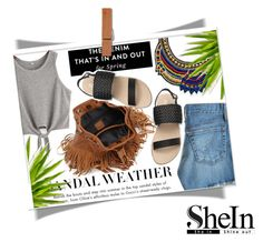 """""""shein"""" by ninakistyles ❤ liked on Polyvore featuring AG Adriano Goldschmied"""