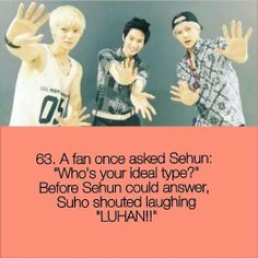 Ok girls.. New mission for those who are Sehun biased (not me, sorry) : make yourself look like Luhan so Sehun will be attracted to you lol