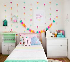 Find the perfect toddler girl bedroom ideas on a budget with our help! We have collected 25 little girl bedroom decor just for you! Childrens Bedroom Decor, Cream Walls, Little Girl Rooms, Kids Decor, Girls Bedroom, Bedroom Ideas, Room Inspiration, Wall Decals, Vinyl Decals