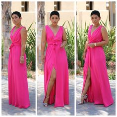 The Front Slit Maxi Dress is versatile and fabulous. It can be made from a woven or knit fabric and can be dressed up or down. This will be one you will make over and over again.
