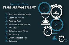 Improve your time management 1. Set clear visions/goals 2. Learn to say no 3. Task by task 4. Minimise social media 5. Prioritise 6. Schedule your time 7. Be healty 8. Clear expetacions 9. Delegate  Hexxa Academy Kediri Jl Banjaran Gang 1 No 70/134 Kediri Telp 081 335 062 295 / 081 249 784 558 atau kunjungi website kami di hexxa-academy.com #hexxaacademy #hexxaprivat #kotakediri #kabupatenkediri #kedirilagi #kedirihits #harmonikediri #eventkediri #bimbelsd #bimbelsmpkediri #bimbelsmakediri