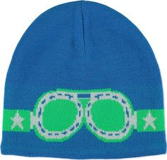 Kenzie - Electric Blue - molo knit hat with pattern