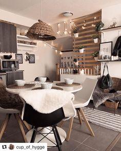 IKEA bed slats used for divider hanging plants. Paint black.