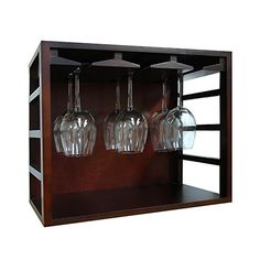 Wine Racks - Epicureanist EPSTACK12G Stackable Wine Glass Rack Medium Brown -- Details can be found by clicking on the image.