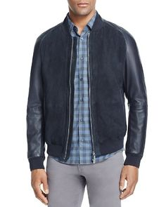 BOSS Mornas Suede Panel Bomber Jacket - 100% Bloomingdale's Exclusive