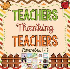 Teachers Thanking Teachers-HUGE Giveaway through November 17th!