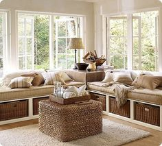 Cozy Corner decor interior design modern living room design ideas living room trends beige living room love white Back home design Decor, House Design, Rustic Cottage Style, House, Family Room, Home, House Interior, Platform Daybed, Interior Design