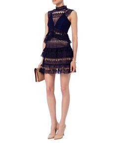 Self-Portrait EXCLUSIVE Guipure Teardrop Lace Dress | Shop IntermixOnline.com
