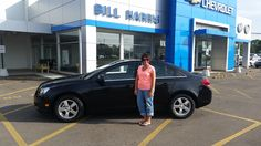 We think Teresa Cooper looks great standing next to her #new #Chevrolet #Cruze! Thanks Teresa!