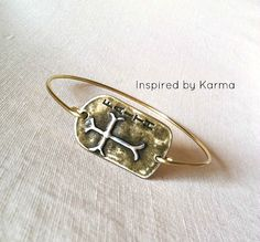 Faith Bangle Bracelet - $15.99 - Handmade Jewelry, Crafts and Unique Gifts by Inspired by Karma