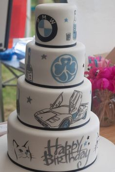 Handpainted interests cake