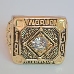 Championship rings and more!! Rings and much more!! 1954 New York Gia... Check it out here! http://championshipringsandmore.com/products/1954-new-york-giant-world-championship-replica-ring-baseball?utm_campaign=social_autopilot&utm_source=pin&utm_medium=pin