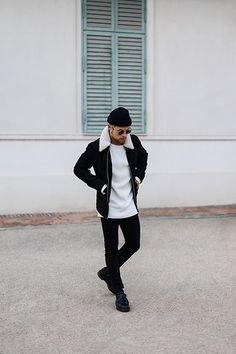 Kevin Elezaj: http://lb.nu/kevinelezaj  Items in this look:  Dr. Martens Shoes, Tigha Jeans, Cos Knitwear, Scotch & Soda Jacket, Komono Shades, Nike Beanie   #ootd #outfit #outfitoftheday #look #loofoftheday #lookbook #kevinelezaj #menstyle #mensfashion