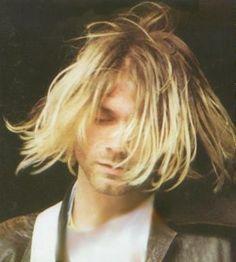 Kurt Cobain, hair over his face