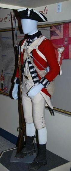 Uniform of the 7th Royal Fusiliers, 1775. British Army Uniform, British Uniforms, British Marine, American Uniform, 18th Century Clothing, 18th Century Fashion, American Revolutionary War, American War, Continental Army