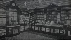 An interior view of Hatton and Laws Chemists in Launceston in Tasmania in 1907.