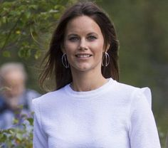 """Princess Sofia and Prince Carl Philip of Sweden are seen during their inuaguration of the nature reserve """"Byamossarna"""" in Arvika, County of Varmland Sweden August 26, 2015."""