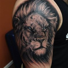 nice Tattoo Trends - 25 awesome lion tattoo designs for men and women Check more at https://tattooviral.com/tattoo-designs/tattoo-trends-25-awesome-lion-tattoo-designs-for-men-and-women-14/