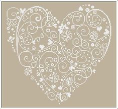 ♥ cross stitch heart