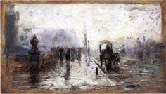 Street Scene with Carriage - T. C. Steele