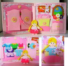Quiet book busy book Doll house book felt book door HappyMumToys