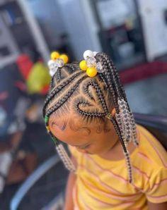 Black Baby Girl Hairstyles, Black Kids Braids Hairstyles, Little Girls Natural Hairstyles, Toddler Braided Hairstyles, Cute Hairstyles For Kids, Kid Hairstyles, Toddler Braid Styles, Little Girl Braid Styles, Little Girl Braids