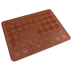 Crystallove 1511inch Silicone Macaron Mat Oven Baking Sheet for DIY Cookie Macaron Chocolate Mold48 Capacity coffee 1pcs >>> Click image to review more details.