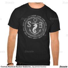 Custom Nautical Anchor Seahorse Blackboard T-Shirt @zazzle