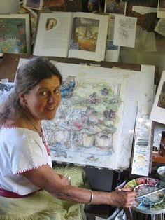 kim jacobs artist | Kim Jacobs-creating art in the Deep, Deep Woods