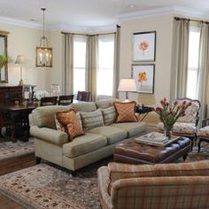 traditional living room by Brian Dittmar Design, Inc.