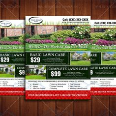 85 x 11 landscaping business flyer design by the lawn market