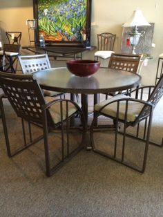 Stanley  Round Glass Top Table W 4 Chairs  $90895  Too Good Mesmerizing Dining Room Chairs San Antonio Design Ideas