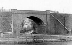 The railway bridge over Thackeray's Lane, Woodthorpe, Nottingham, Water Tower, Local History, Nottingham, Old Photos, Past, Young Lad, Train, Bridges, City