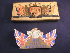 King George VI and Queen Elizabeth Frys Chocolate Tin Souvenir City of Rochester Coronation Celebrations May 1937 Original Chocolate label Fried Milk, English Royalty, King George, Queen Elizabeth, Celebrations, Tin, Label, Chocolate, Trending Outfits