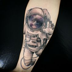 name tag that says major tom for my david bowie tribute tattoo