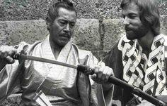 "Toshirô Mifune and Richard Chamberlain in the mini-series ""Shogun ..."