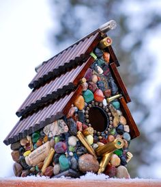 Easy to DIY.    Birdhouse with Recycled Bullet Shell by WinestoneBirdhouses, $85.00