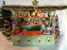 Unique Vintage Christmas market stall with by MiniMagicDreams