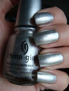 China Glaze - Cheers To You Silver Nail Polish, G Nails, China Glaze, Cheers, Hair Makeup, Nail Art, How To Make, Gifts, Collection