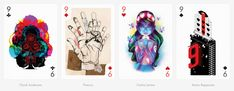 From the two of clubs to the ace of spades, each card in this deck has been individually designed by one of the 55 selected international artists in their distinct style and technique.
