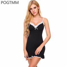 Summer Sexy Backless Nightshirt Women Lace Ruffle Short Nightgown Nightwear  Female Cotton Sleepwear Nightdress Lingerie Chemise 4c35762a2
