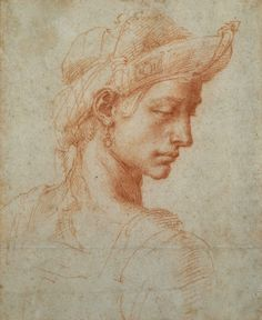 adelfos:  Ideal Head by Michelangelo Buonarroti (1475-1564). Photograph by  Ashmolean Museum
