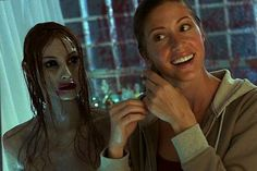 Shannon Elizabeth and Shawna Loyer in Ghosts Ghost Movies, Scary Movies, Terrifying Movies, Movies Showing, Movies And Tv Shows, Shannon Elizabeth, House On Haunted Hill, What Lies Beneath, Actor John
