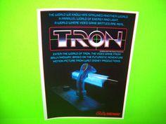 Midway TRON 1982 Original NOS Video Arcade Game Promo Sales Flyer Foldout Rare #Midway