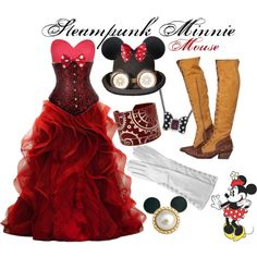 Steampunk Minnie Mouse by princesschandler on Polyvore #DisneySteampunk