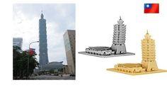 3D Metallic DIY Puzzle Stainless Gold Silver Taiwan Taipei 101 Building | eBay