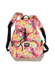 The PINK Victoria s Secret Tropical Floral Hawaiian Print Full-size Multi  Color Canvas Backpack is a top 10 member favorite on Tradesy. 0ff0b697b1a71