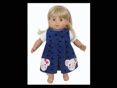 15 inch doll dress / Bitty Baby doll dress / by kkdesignerdolls